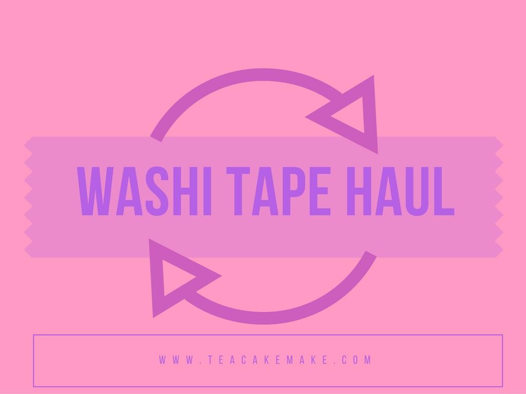 washi tape haul