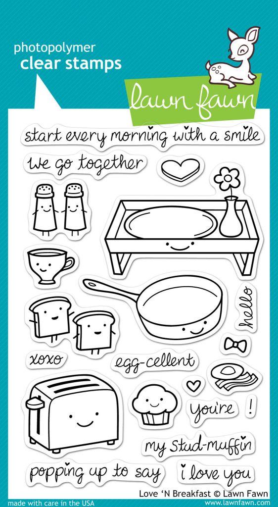 love n breakfast stamp set