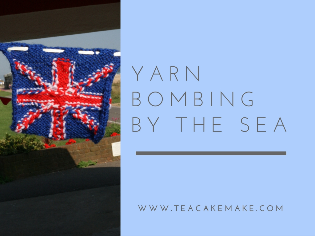 yarn bombing by the sea