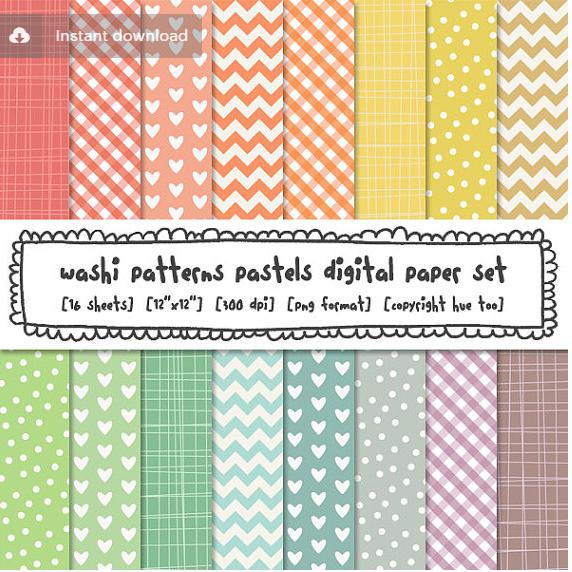 washi tape printable paper