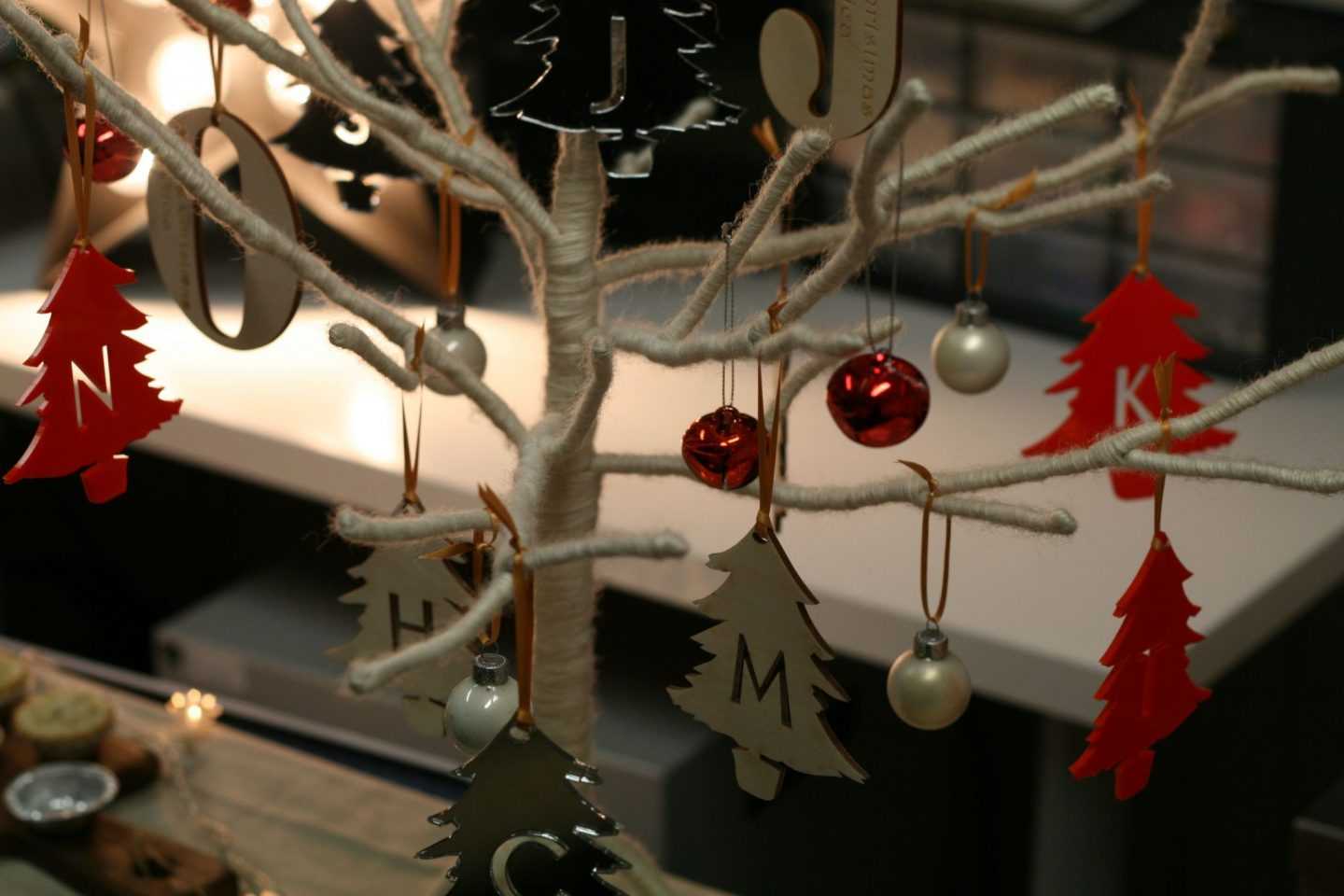 initial tree decorations