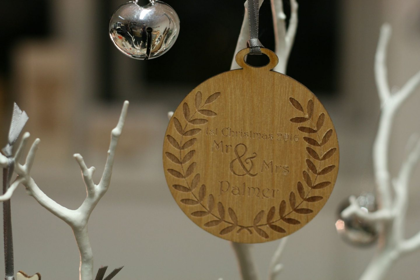 mr and mrs first christmas decoration