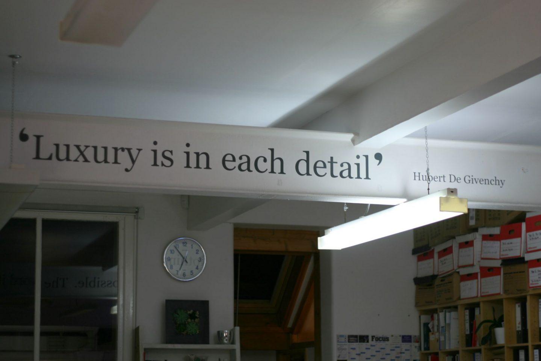 luxury is in each detail