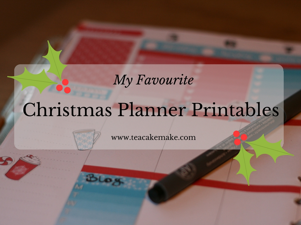 etsy christmas planner printables