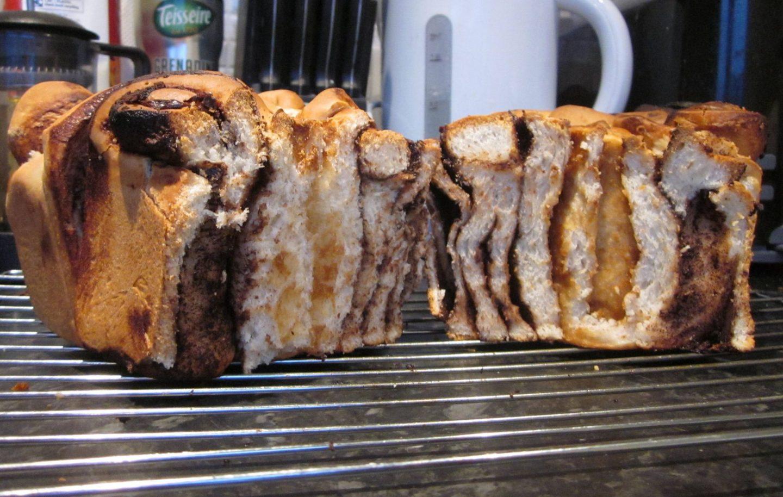 vegan chocolate nutella biscoff swirl loaf