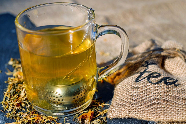 self care glass cup of tea