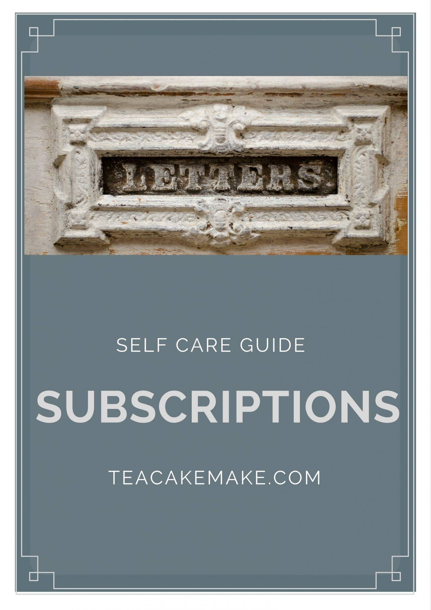 self care subscription ideas