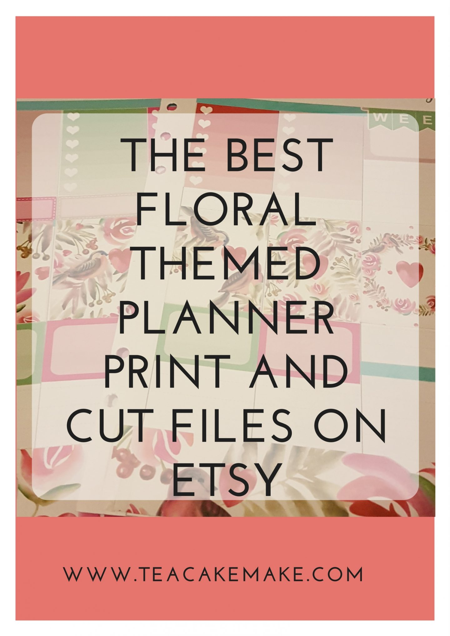 best floral planner print and cut files etsy