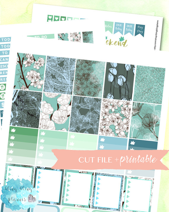 blue spring planner printables