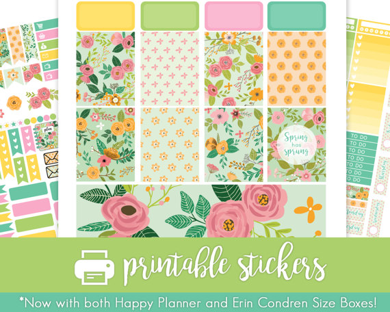 bright spring has sprung planer printable