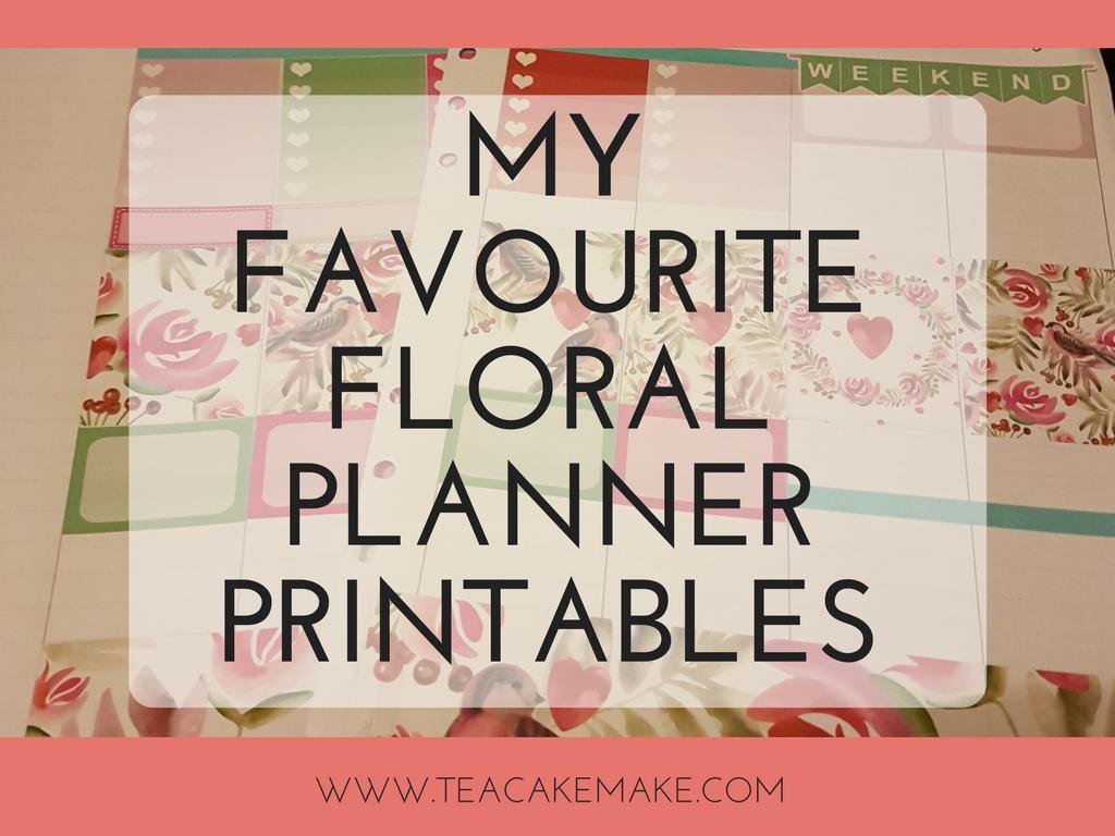 best floral planner printables
