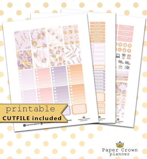 lilac air baloon planner printables