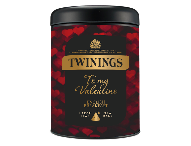 twinings valentines tea caddy