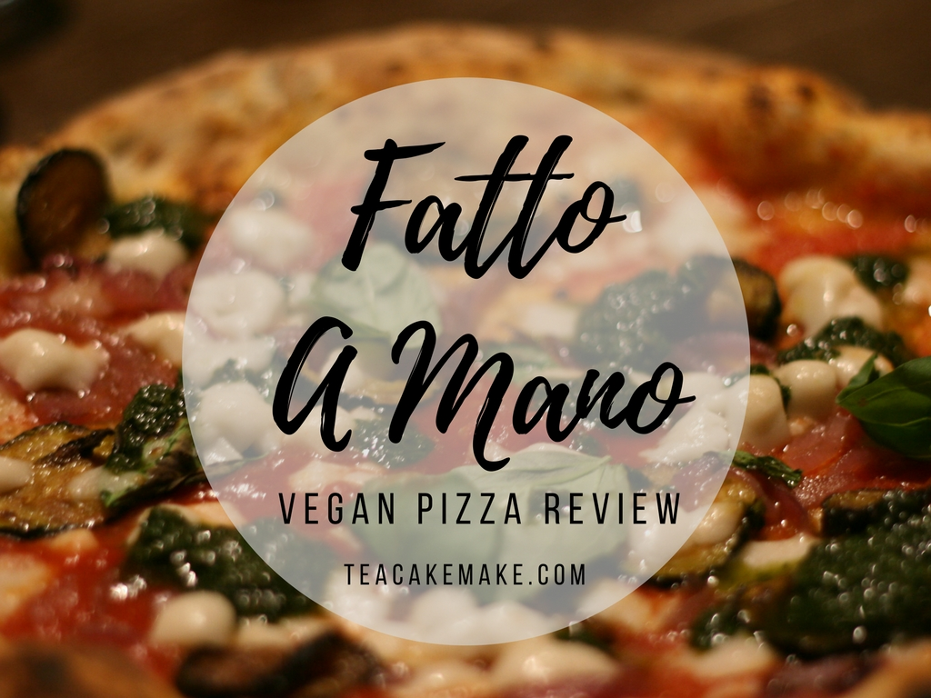 fatto a mano vegan pizza review