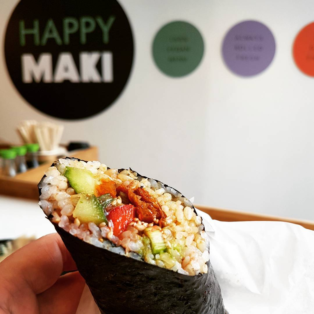 happy maki vegan sushi burrito