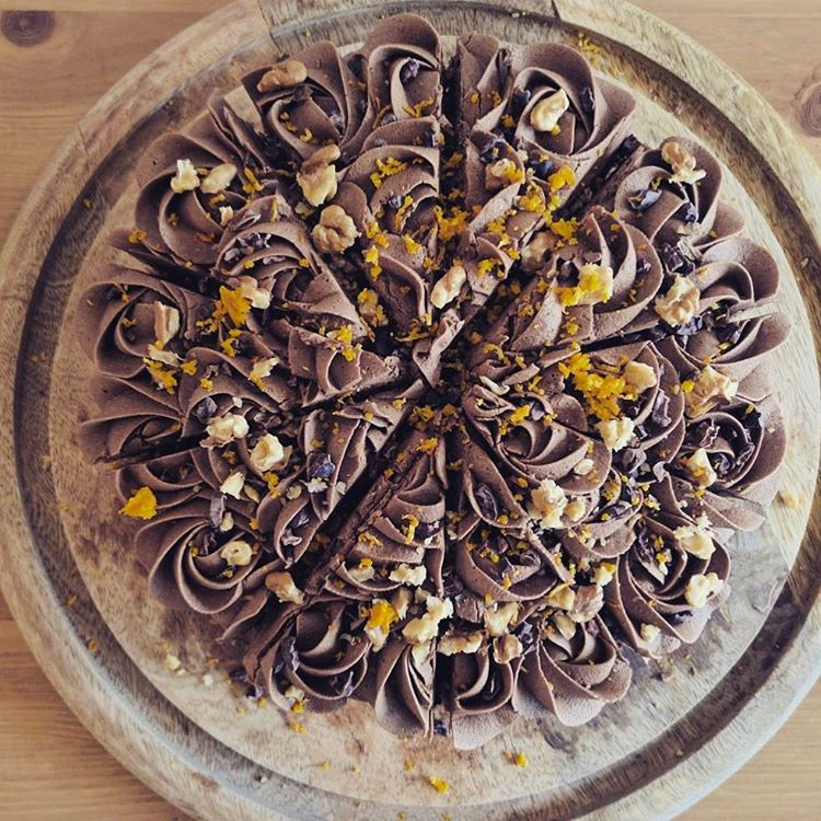 orange mocha gf vegan cake
