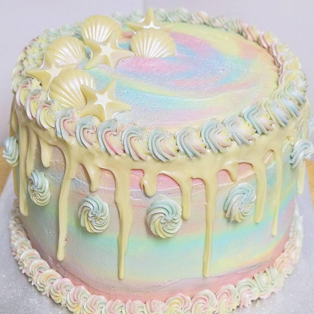 vegan gluten free unicorn mermaid cake