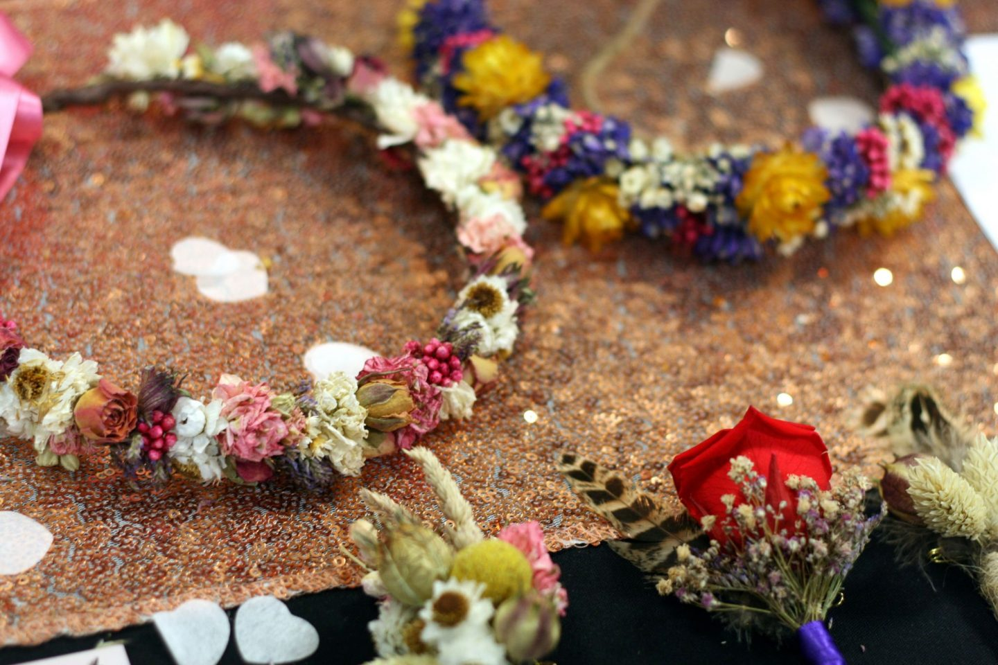 dried floral bridal tiaras