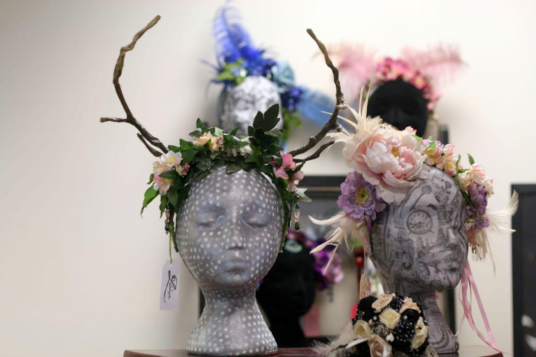 woodland stag flower crown