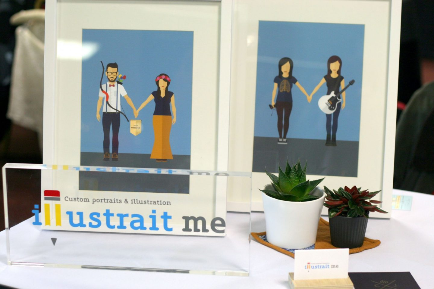 Illustrait Me invites and prints