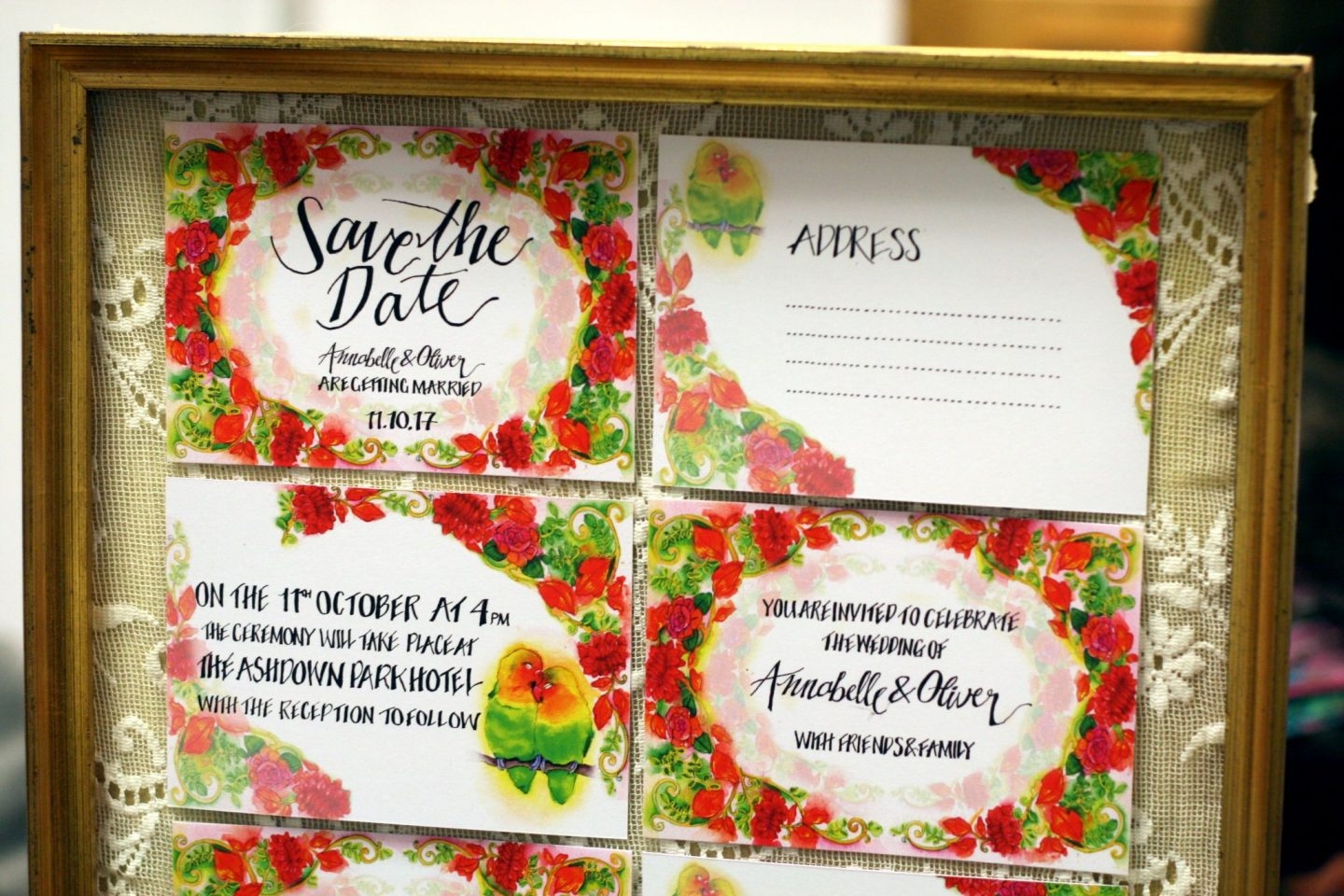 gorgeous floral wedding invites