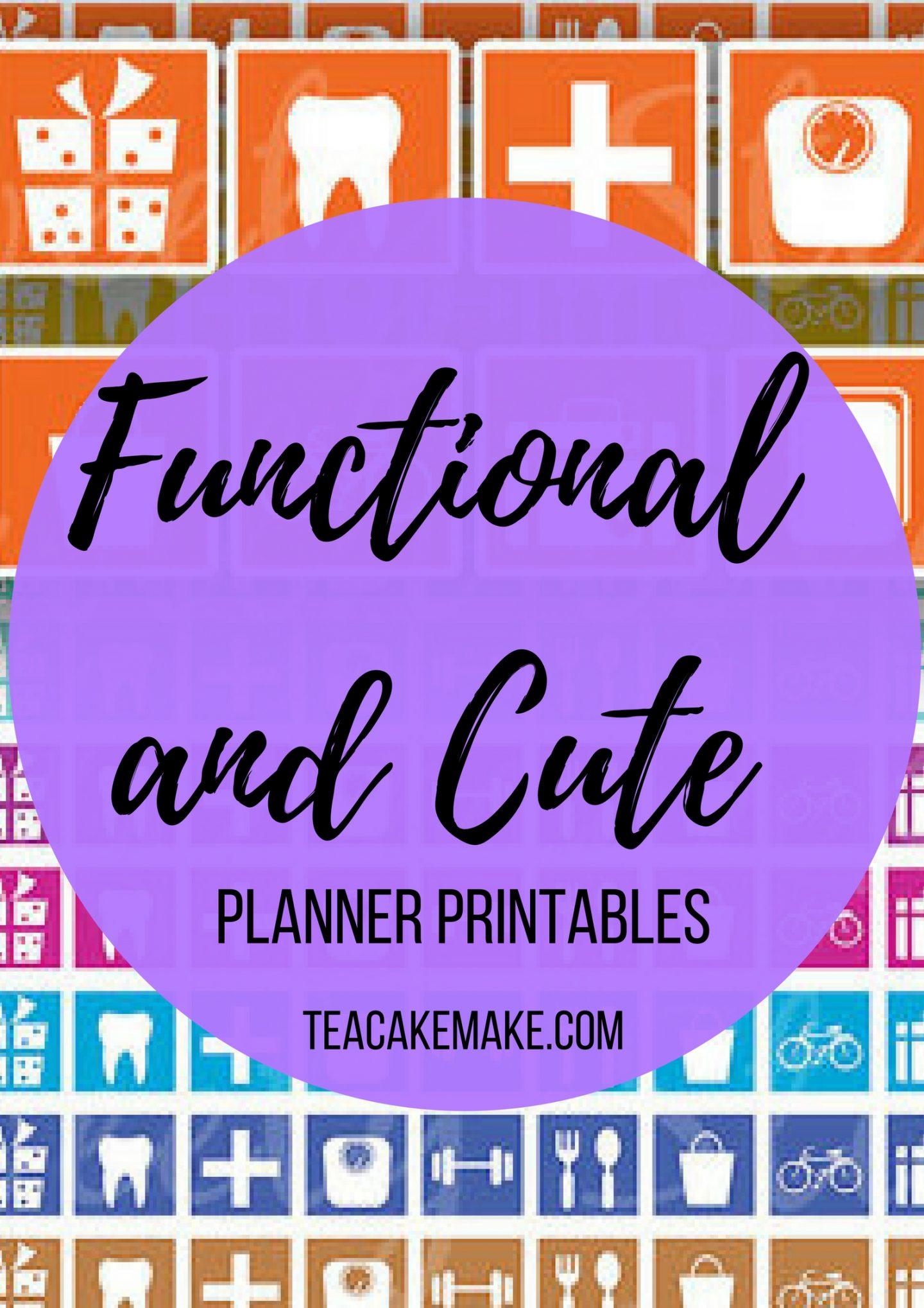 Cute Functional Planner Sticker Printables