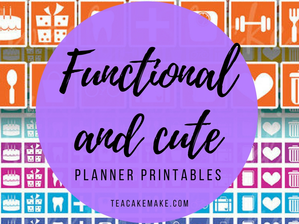 Functional Planner Printable Stickers