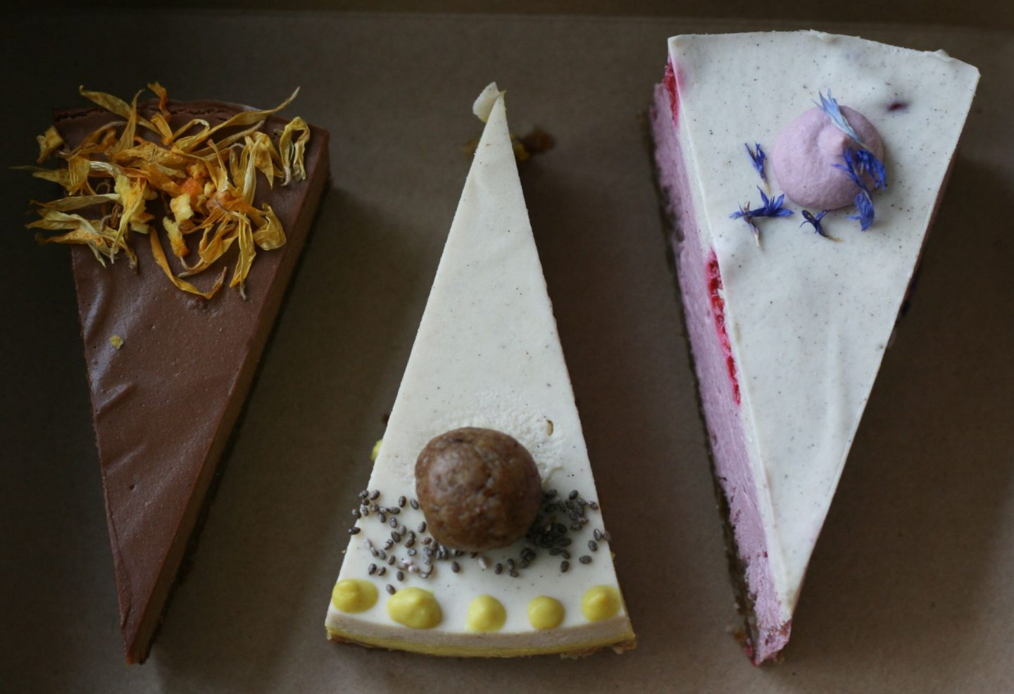 Raw Vegan Cake Trio