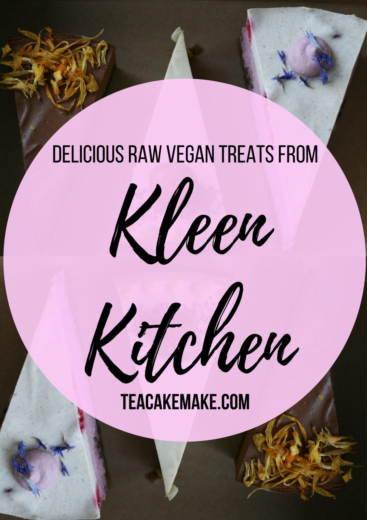 Kleen Kitchen vegan raw cakes review