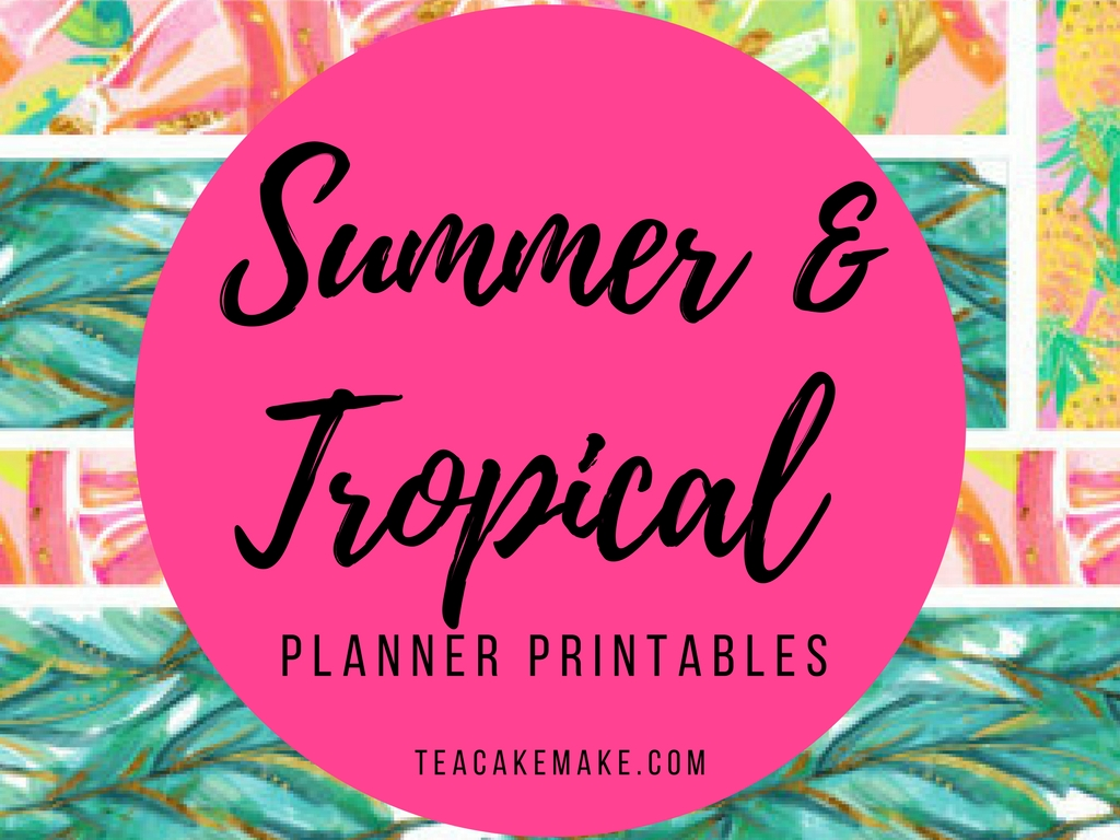 Summer Tropical Planner Printables
