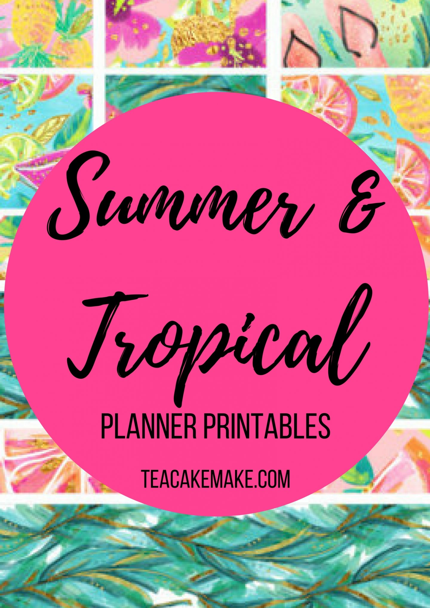 Summer Tropical Planner Sticker Printables