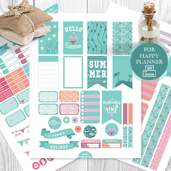hello summer planner printables