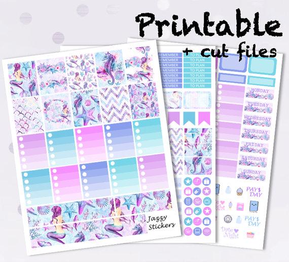mermaid planner printables