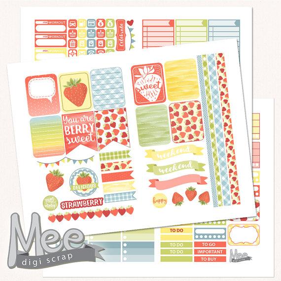 strawberry planner printables