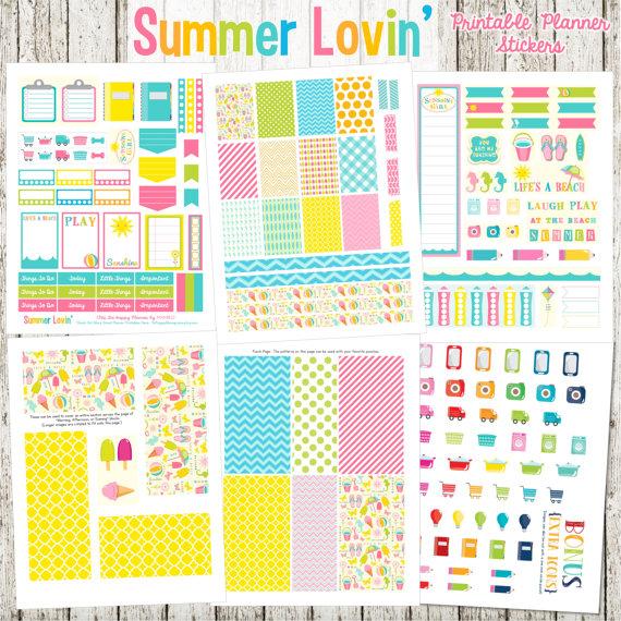 summer lovin planner printables