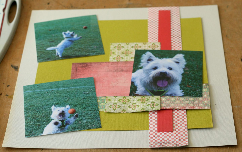 westie dog scrapbook layout placing