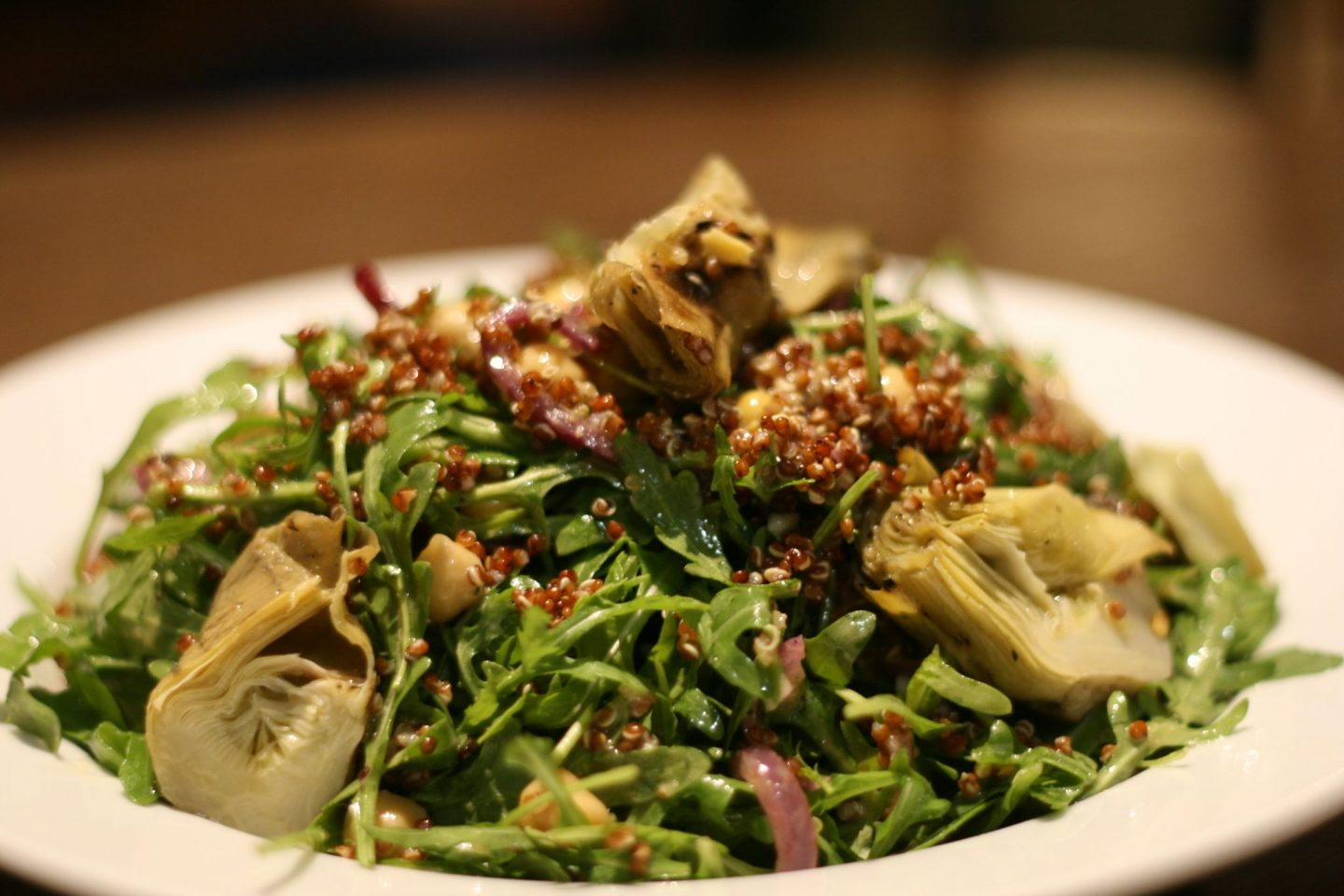 artichoke chickpea rocket salad