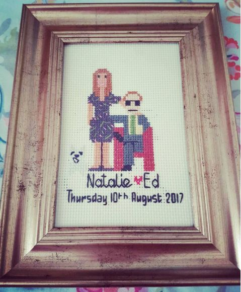 custom wedding cross stitch