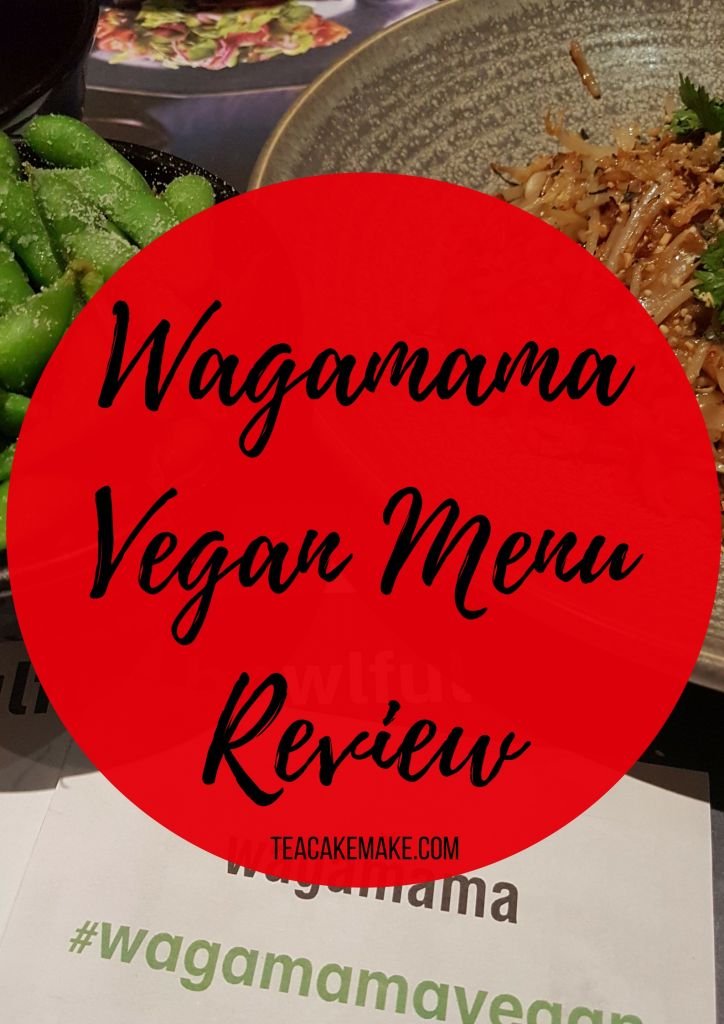 Vegan menu at wagamama