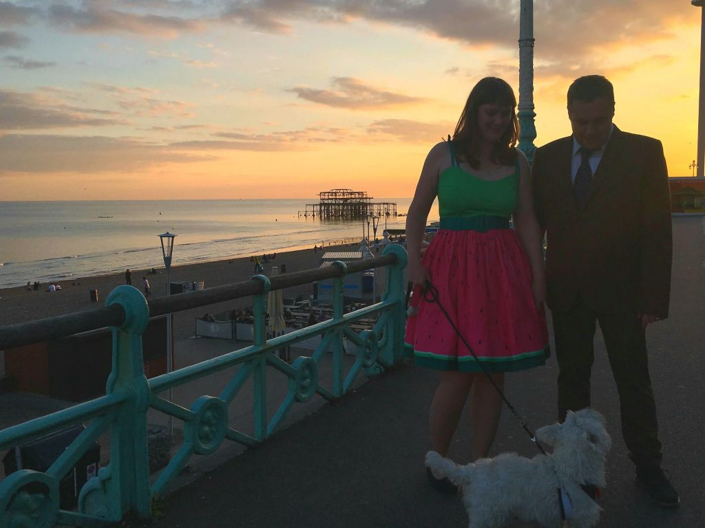 brighton wedding sunset