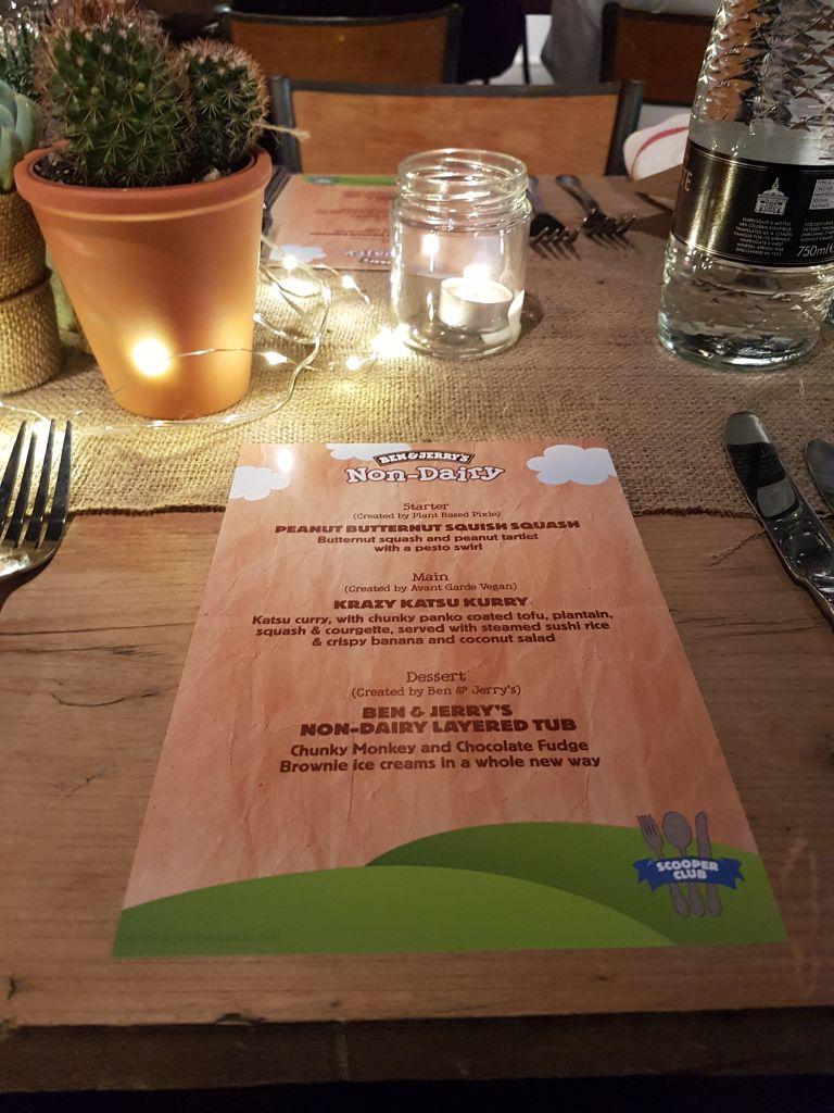 ben and jerrys non dairy scooper club menu