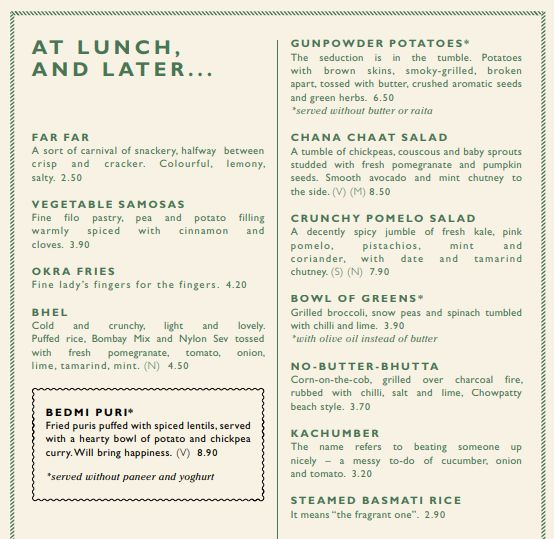 vegan dishoom menu
