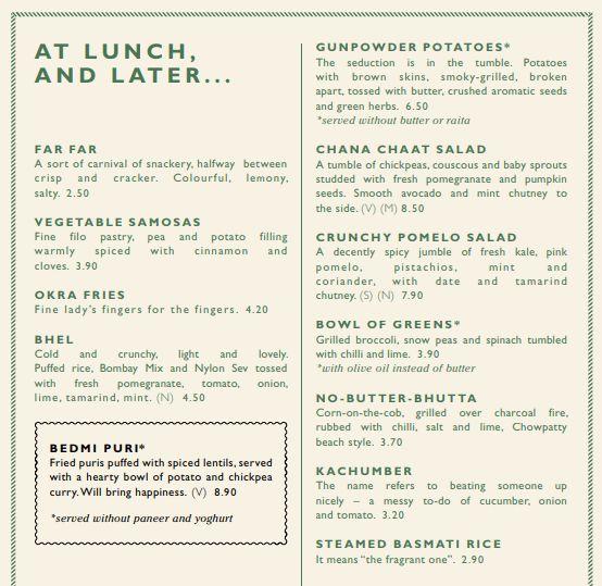vegan dishoom menu
