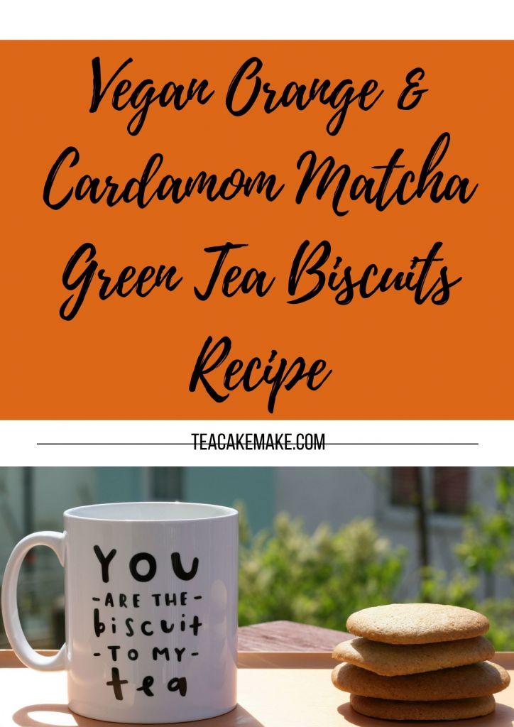 Vegan Orange Cardamom Matcha Green Tea Biscuits Recipe