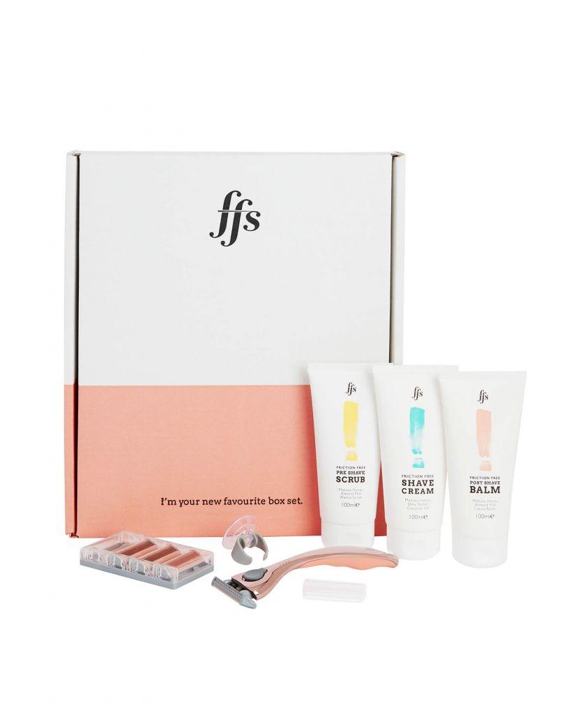 friction free shaving gift set starter pack