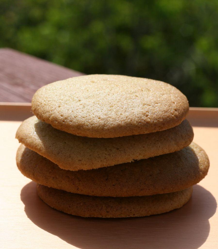 orange cardamom vegan matcha green tea biscuits